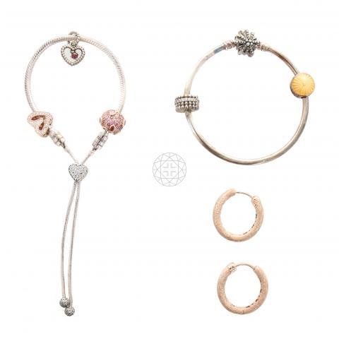 Sell Pandora Bracelet And Ring Set Gold Silver Huntstreet Com